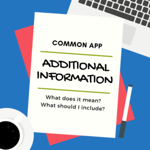 common app additional information image