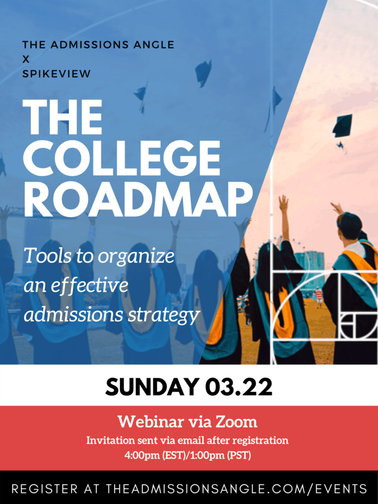 The College Roadmap zoom webinar 3.22
