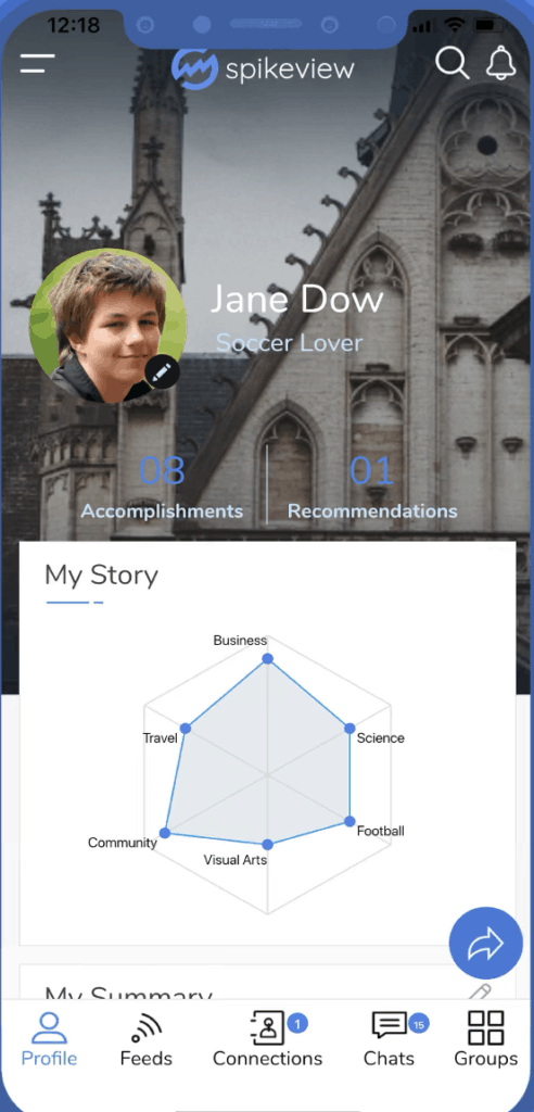 example student profile