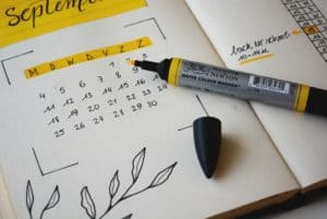 timeline or calendar