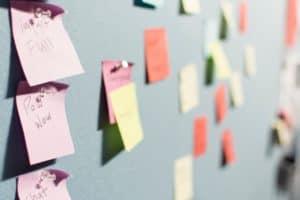 Sticky paper board image