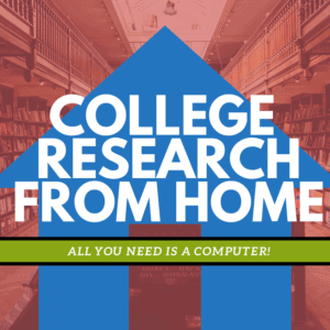 College Research From Home Banner