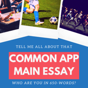 Common App Main Essay Banner