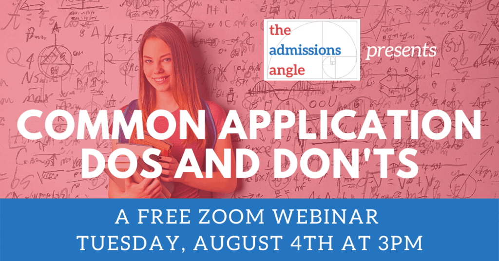 Common Application Dos and Don'ts 8.4 webinar banner