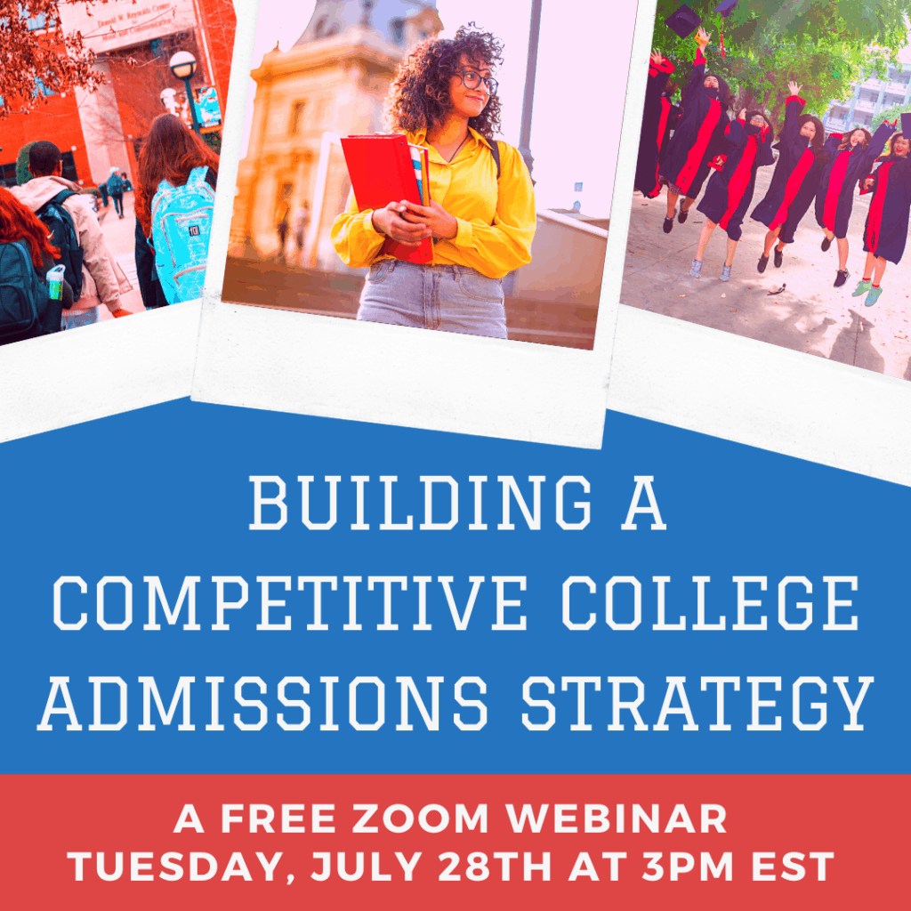 Building A Competitive College Admissions Strategy Zoom Webinar Banner 1