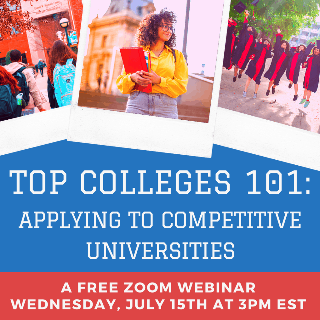 Top Colleges 101 Zoom Webinar Banner