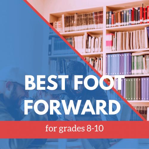 Best Foot Foward 8-10 grade banner