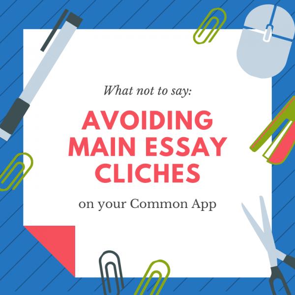 avoiding main essay cliches image