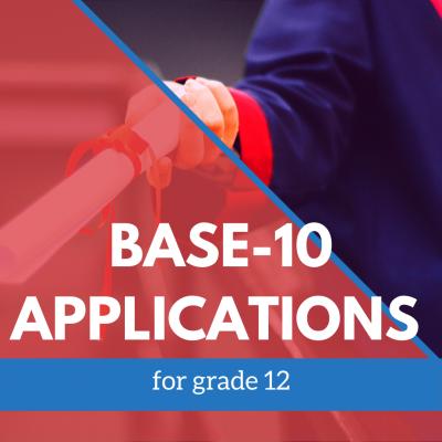 Base-10 Applications 12 graders banner