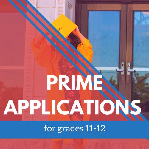 Prime Applications 11-12 grade banner
