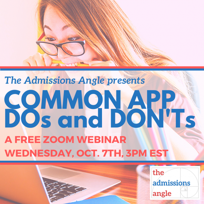 Common App DOs and DON'Ts 10.7 Banner