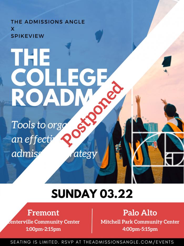the college roadmap postponed banner 3.22