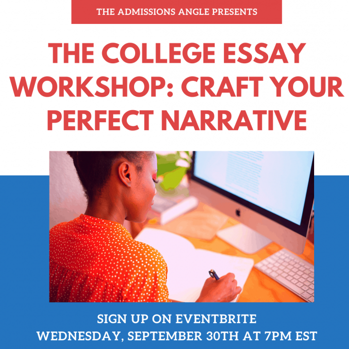 The College Essay Workshop (Last) Banner